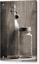 Jar And Bottle  Acrylic Print by Sandra Church