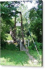 Swinging Bridge Acrylic Print by Eddie Armstrong