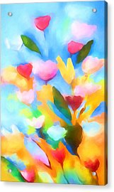 Swinging Flowers Acrylic Print