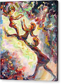Swinging High Acrylic Print by Naomi Gerrard