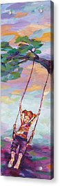 Swinging With Sunset Energy Acrylic Print by Naomi Gerrard