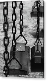 Acrylic Print featuring the photograph Swings by Richard Rizzo