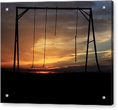 Swingset Sunset Acrylic Print