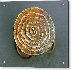Swirl Bronze Ring Acrylic Print by Mirinda Kossoff