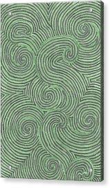 Acrylic Print featuring the drawing Swirl Power by Jill Lenzmeier