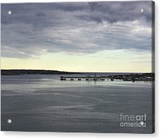 Swirling Currents On Casco Bay Acrylic Print