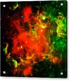 Swirling Landscape Of Stars Acrylic Print