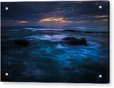 Swirling Waves Acrylic Print