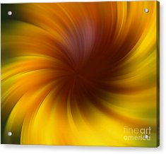 Swirling Yellow And Brown Acrylic Print by Smilin Eyes  Treasures