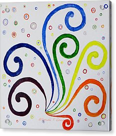 Acrylic Print featuring the painting Swirls by Sonali Gangane