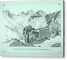 Swiss Alpine Cabin Acrylic Print
