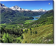 Swiss Alps And Lake Acrylic Print