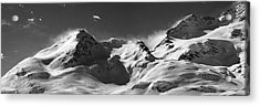 Acrylic Print featuring the photograph Swiss Alps by Marc Huebner