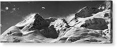 Swiss Alps Acrylic Print by Marc Huebner