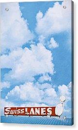 Swiss Lanes Acrylic Print by Scott Norris