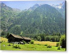 Swiss Mountain Home Acrylic Print by Jeff Kolker