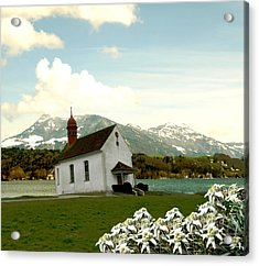 Swiss Spring Version 3 Acrylic Print by Chuck Shafer
