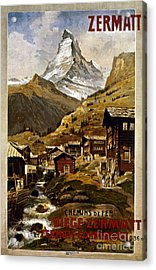 Swiss Travel Poster, 1898 Acrylic Print by Granger