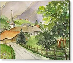Swiss Village Acrylic Print