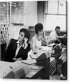 Switchboard Acrylic Print by Archive Photos