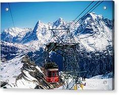 Switzerland Alps Schilthorn Bahn Cable Car  Acrylic Print