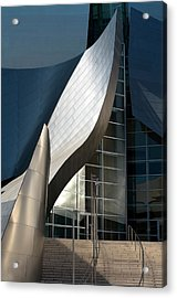 Acrylic Print featuring the photograph Swoops And Lines Of Disney Hall by Lorraine Devon Wilke