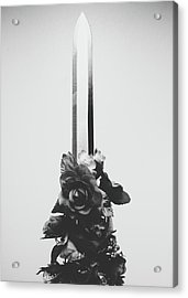 Sword And Rose Acrylic Print