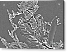 Acrylic Print featuring the digital art Sword Rush Trunks by Ray Shiu