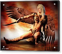 Swords Of The Hawk Woman Acrylic Print