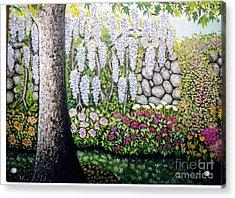 Sycamore Garden Acrylic Print by William Ohanlan