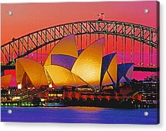Sydney Architecture Acrylic Print by Dennis Cox WorldViews