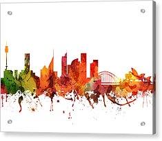 Sydney Cityscape 04 Acrylic Print by Aged Pixel