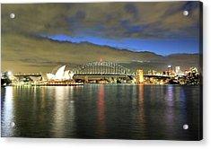 Sydney Harbor At Blue Hour Acrylic Print