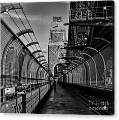 Sydney Harbor Bridge Bw Acrylic Print