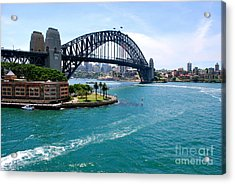 Sydney Harbor Bridge Acrylic Print by Johanne Peale
