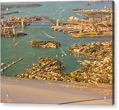 Sydney Harbor Acrylic Print by Steven Ralser