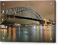 Sydney Harbour At Night Acrylic Print
