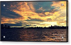 Sydney Harbour At Sunset Acrylic Print by Leanne Seymour