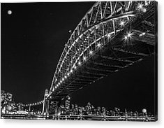 Sydney Harbour Bridge At Night Acrylic Print