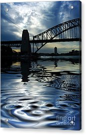 Sydney Harbour Bridge Reflection Acrylic Print by Avalon Fine Art Photography