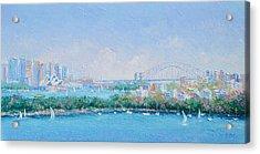Sydney Harbour Bridge - Sydney Opera House - Sydney Harbour Acrylic Print by Jan Matson