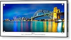 Sydney Icons Poster Print Acrylic Print by Az Jackson