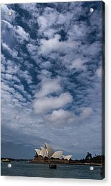 Sydney Opera House And Cloudscape Acrylic Print