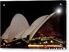 Acrylic Print featuring the photograph Sydney Opera House Close View 2 By Kaye Menner by Kaye Menner