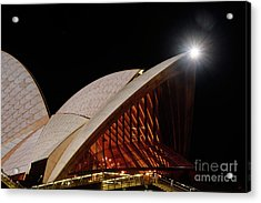 Acrylic Print featuring the photograph Sydney Opera House Close View By Kaye Menner by Kaye Menner