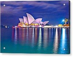 Sydney Opera House Pre Dawn Acrylic Print by Az Jackson