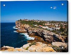 Sydney Sandstone Clifftop Acrylic Print by John Buxton