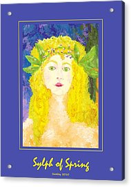 Acrylic Print featuring the painting Sylph Of Spring Poster by Shelley Bain