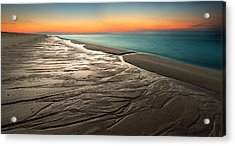 Sylt Low Tide Sundown Acrylic Print by Niclas Hartz
