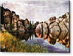 Sylvan Lake - Black Hills Acrylic Print by Ellen Heaverlo